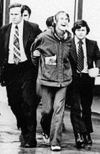 Leary bei seiner Verhaftung 1972