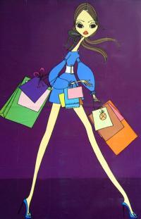 Dieses Plakat einer deutschen Frauenzeitung warb im Jahr 2007 für eine Shoppingwoche. Doch wann ist Einkaufen wirklich nur Spaß und wann fängt die Kaufsucht an? Bei der Kaufsucht handelt es sich um den Zwang zu konsumieren.