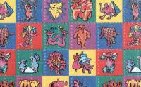 LSD Ticket - über das in den Mund genommene Papier überträgt sich der Stoff